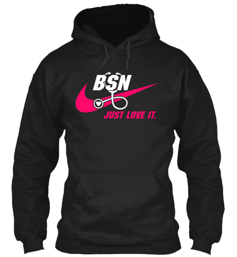 Bsn Just Love It. Black T-Shirt Front
