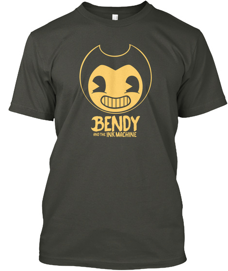 Bendy And The Ink Machine T Shirt Smoke Gray T-Shirt Front