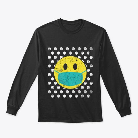 Cute Funny Nurse Scrubs Mask Surgical Nu Black T-Shirt Front