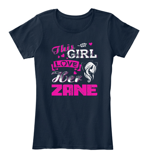 This Girl Loves Her Zane New Navy T-Shirt Front