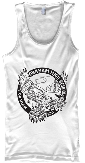 Graham Night Hawks Woman's Fighter White T-Shirt Front