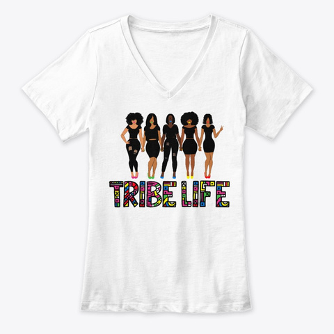 Tribe Life White T-Shirt Front