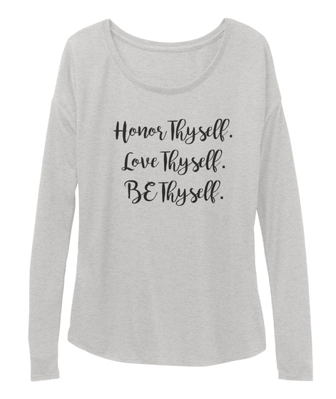 Walk In Love Mantra Athletic Heather T-Shirt Front