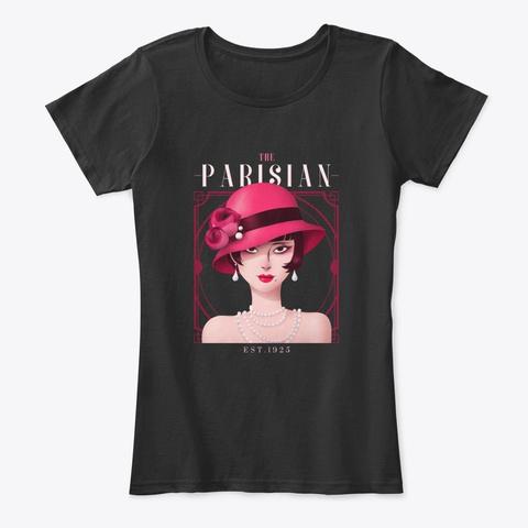 La Paris Femme Black T-Shirt Front
