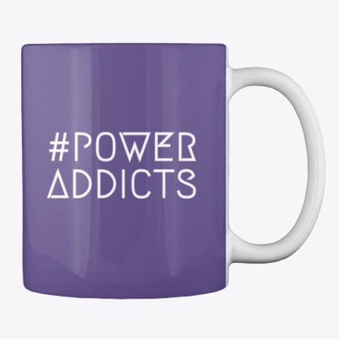 Power Addicts Mug Purple Mug Back