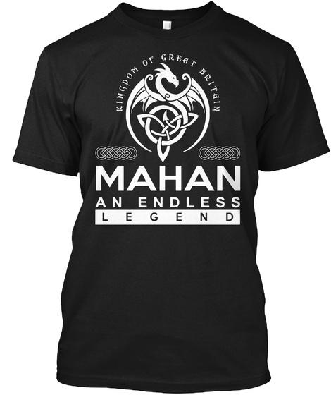 Mahan An Endless Legend Black T-Shirt Front