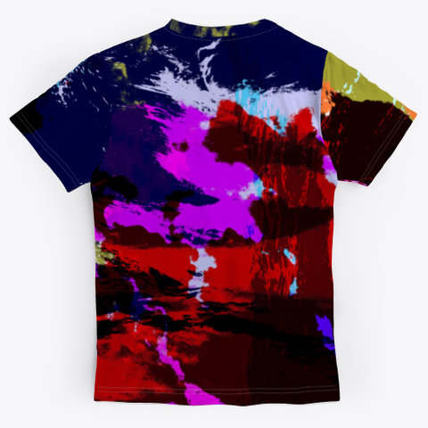 Hina   Colorful Tie Dye Style Pattern Standard T-Shirt Back