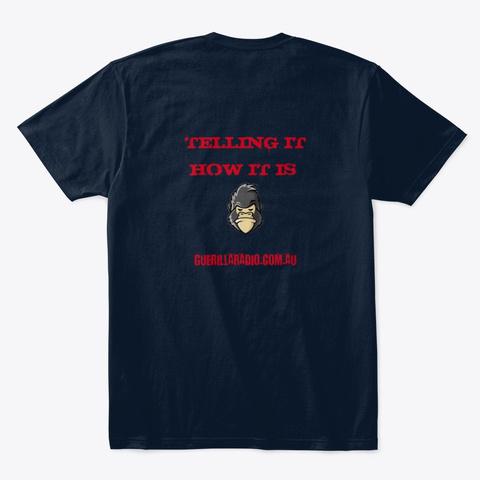 Guerilla Radio Club Tee  New Navy T-Shirt Back