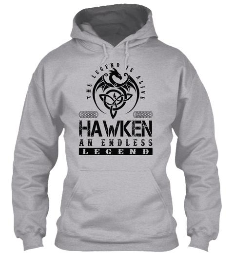 Hawken   Legends Alive Sport Grey T-Shirt Front