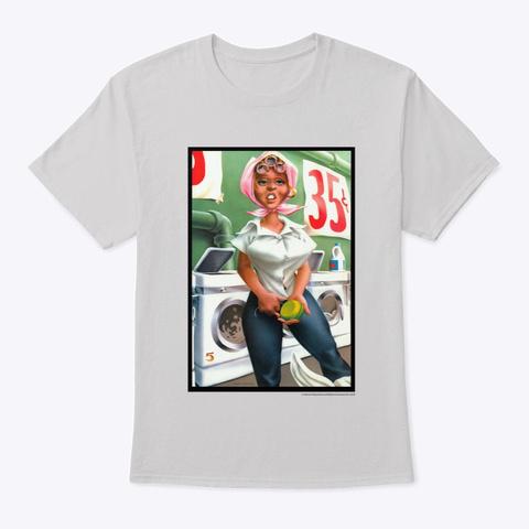 Doing Laundry Light Steel T-Shirt Front