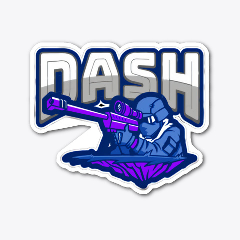 Dash Classic Icon Sticker  Standard T-Shirt Front
