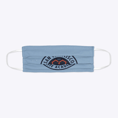 Baby Blue Sfea Face Mask Standard T-Shirt Flat