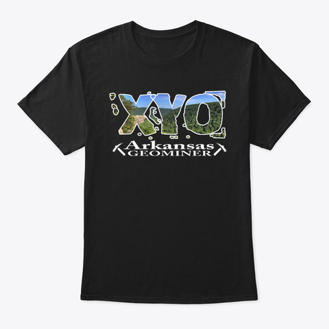 Xyo Arkansas Design Black T-Shirt Front