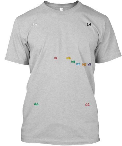 La Ll Rl Vi Vs Vz Vs Ra Light Steel T-Shirt Front