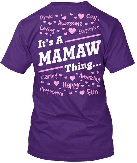 Its A Mamaw Thing... Purple T-Shirt Back