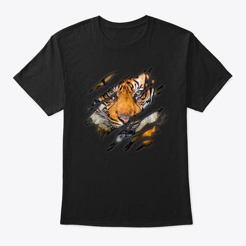 Tiger In Me T Shirt, Tigershirt Black T-Shirt Front