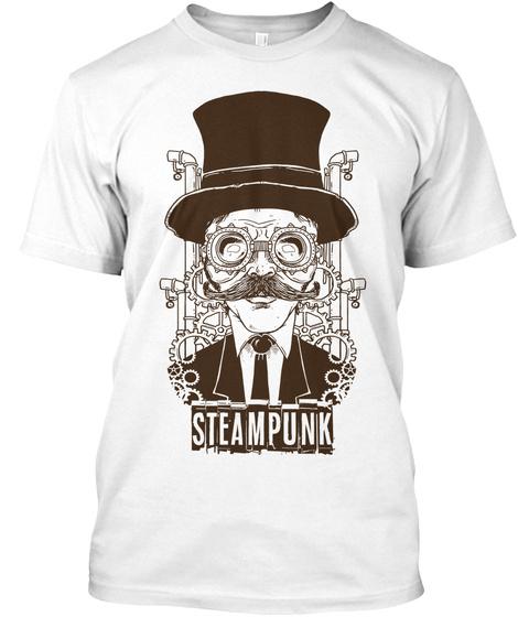 Steampunk White T-Shirt Front