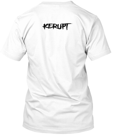Kerupt White T-Shirt Back