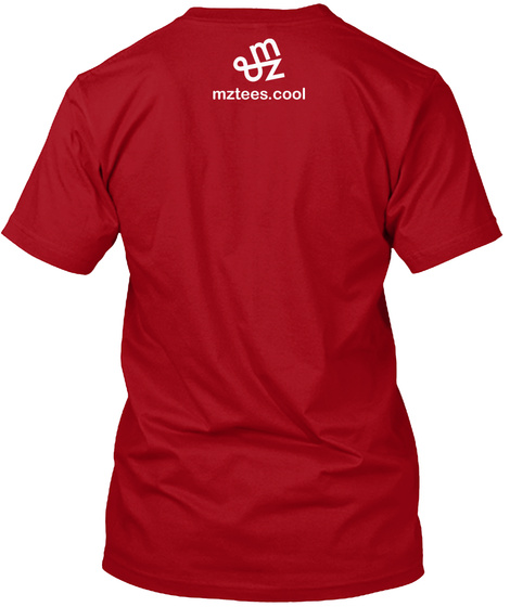 White Quincunx Deep Red T-Shirt Back