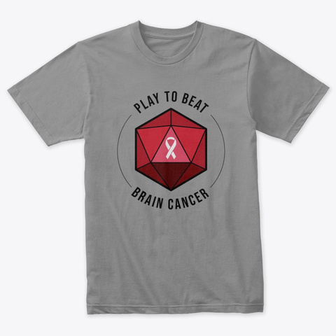 Play To Beat Brain Cancer Premium Heather T-Shirt Front