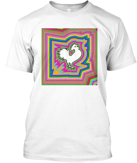 The Infinity Rooster White T-Shirt Front