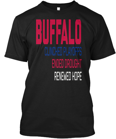 Ended Drought Renewed Hope Black T-Shirt Front