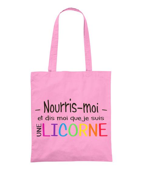 Sac    Nourris Moi Et Dis Moi Classic Pink T-Shirt Front