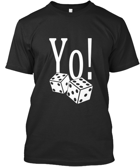 Yo Black T-Shirt Front