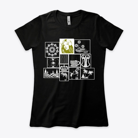 Masonry Blocks Design 1 Black T-Shirt Front