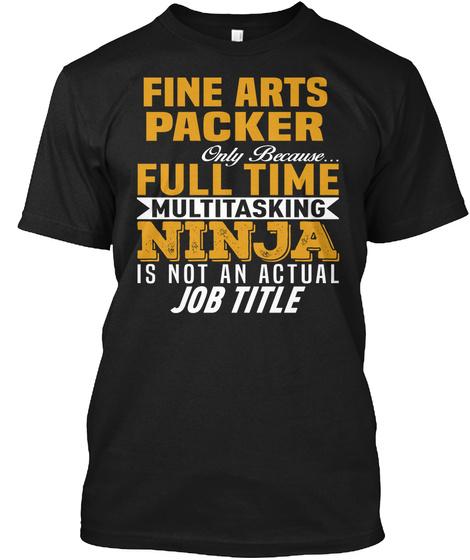 Fine Arts Packer Black T-Shirt Front