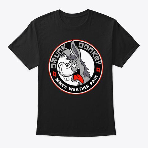 Drunk Donkey Black T-Shirt Front