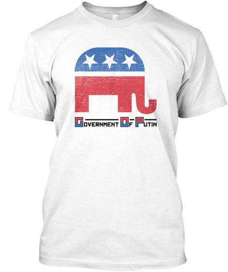 Anti Trump Art | Impeach President | White T-Shirt Front