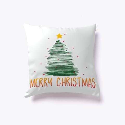 Merry Christmas Tree Pillow Standard T-Shirt Front