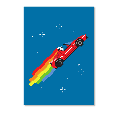 Nyan Roadster Sticker [Int] #Sfsf Royal Blue Stiker Front