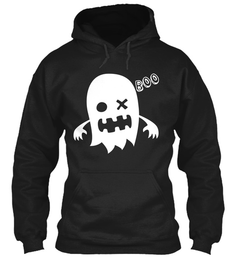 Boo Black T-Shirt Front