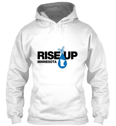 Rise Up Minnesota White T-Shirt Front