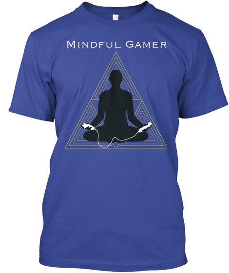 Mindful Gamer Wii Edition Deep Royal T-Shirt Front