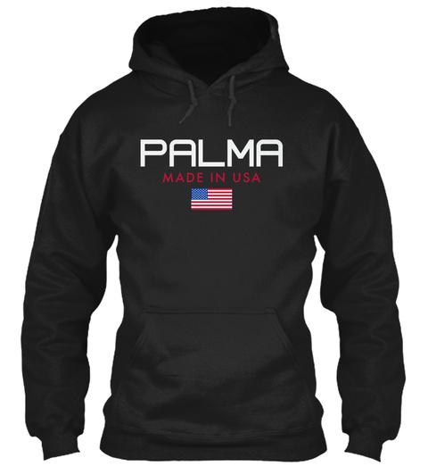 Palma Made In Usa Black T-Shirt Front