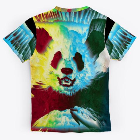 Bc Cat Panda6288 Black T-Shirt Back
