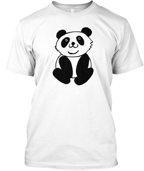 High Iq To Understand Pandas White T-Shirt Front