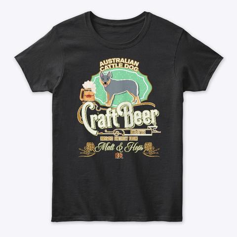 Australian Cattle Dog Gifts Black T-Shirt Front
