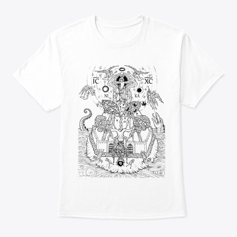 Cosmic Mountain White T-Shirt Front