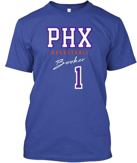 Phx Basketball Booker 1 Deep Royal T-Shirt Front