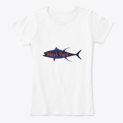 West Port New Zealand Tuna White T-Shirt Front