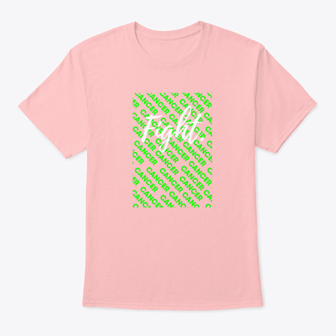 Fight Hodgkin Together Green Awareness Pale Pink T-Shirt Front