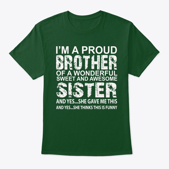 Funny Gift For Brother From Sister Products from FunnyFamilyGifts   Teespring