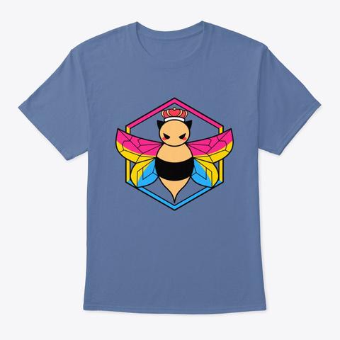 Pansexual Pride Briggsy Bee Denim Blue T-Shirt Front