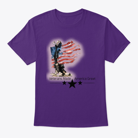 Vmag Flag And Gear Purple T-Shirt Front