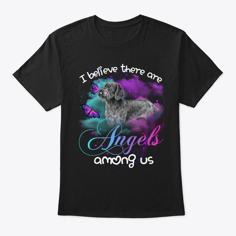 Wirehaired Pointing Griffon Black T-Shirt Front