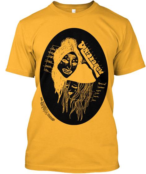 Vantana Row Samhain Tee (Org/Blk) Gold T-Shirt Front